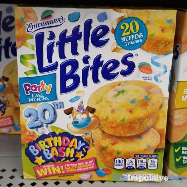Entenmann s Little Bites 20th Birthday Bash Party Cake Muffins