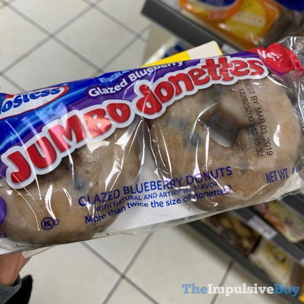 Hostess Glazed Blueberry Jumbo Donettes 2 Pack