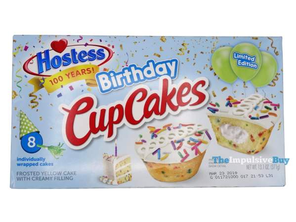 Hostess Limited Edition Birthday CupCakes