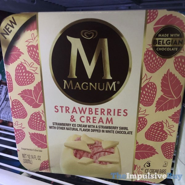 Magnum Strawberries  Cream Bars