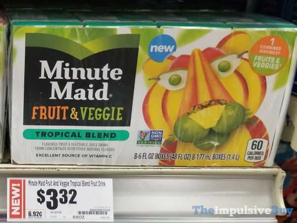 Minute Maid Fruit  Veggie Tropical Blend