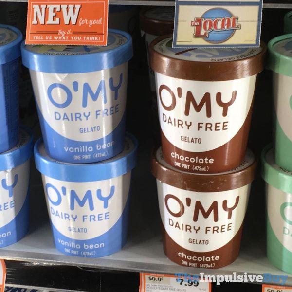 O My Dairy Free Gelato  Vanilla Bean and Chocolate