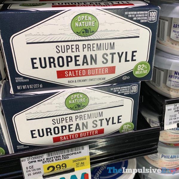 Open Nature Super Premium European Style Salted Butter