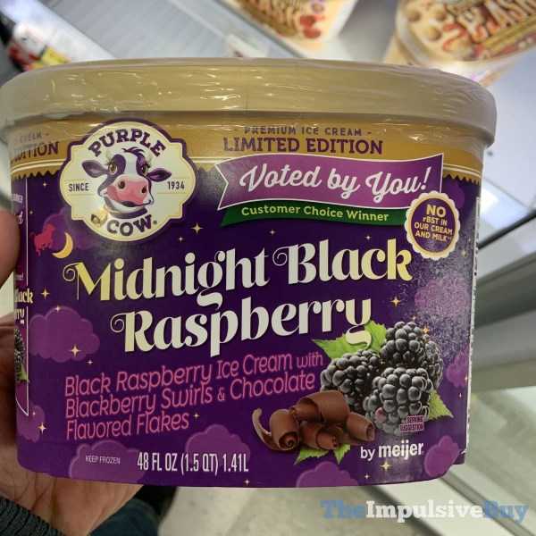 Purple Cow by Meijer Limited Edition Midnight Black Raspberry Ice Cream