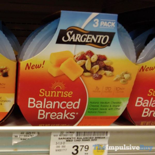 Sargento Sunrise Balanced Breaks Medium Cheddar Raisins  Maple Pumpkin Seeds with Other Natural Flavors