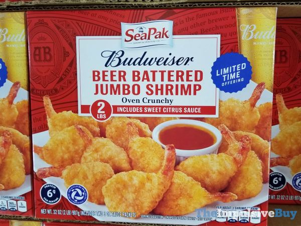 Sea Pak Budweiser Beer Battered Jumbo Shrimp