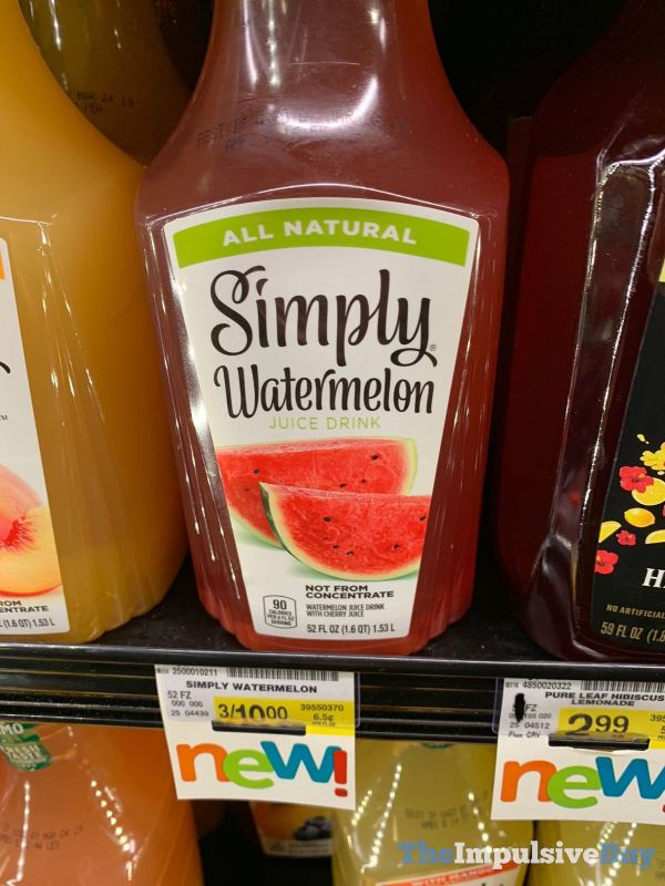 Simply Watermelon Juice Drink