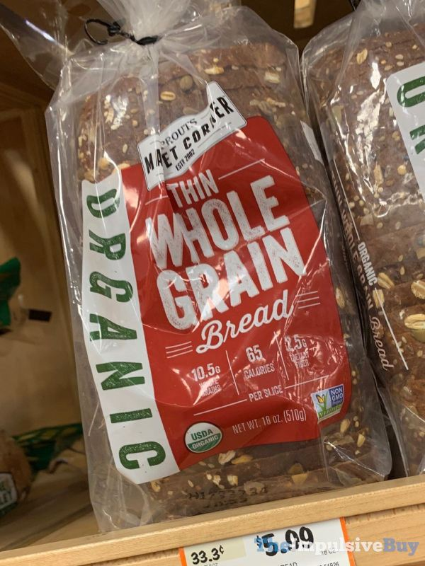 Sprouts Market Corner Organic Thin Whole Grain Bread