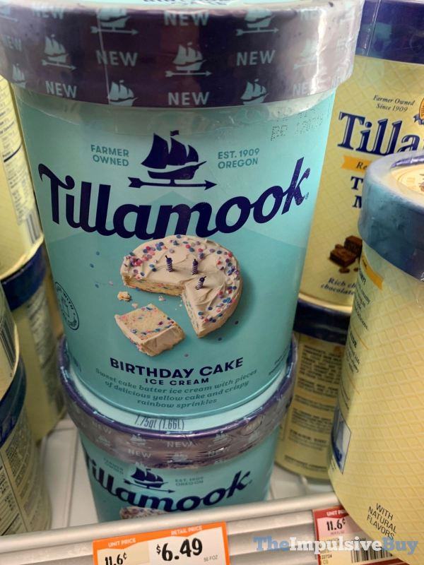 SPOTTED Tillamook Birthday Cake Ice Cream
