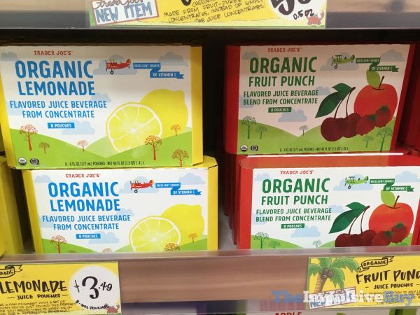 Trader Joe s Organic Lemonade and Fruit Punch Pouches