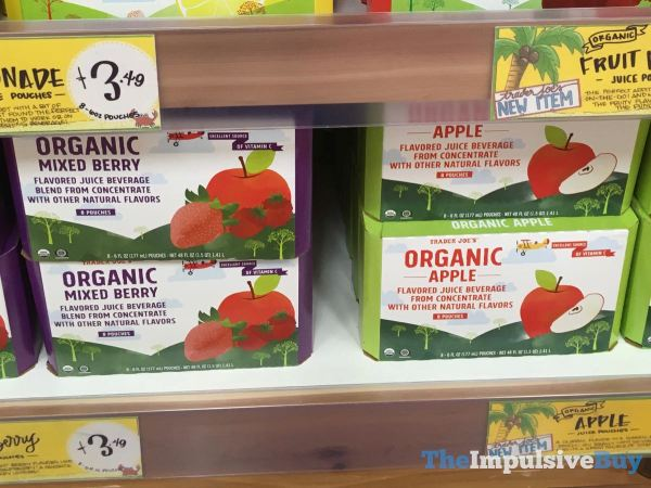Trader Joe s Organic Mixed Berry and Apple Juice Pouches