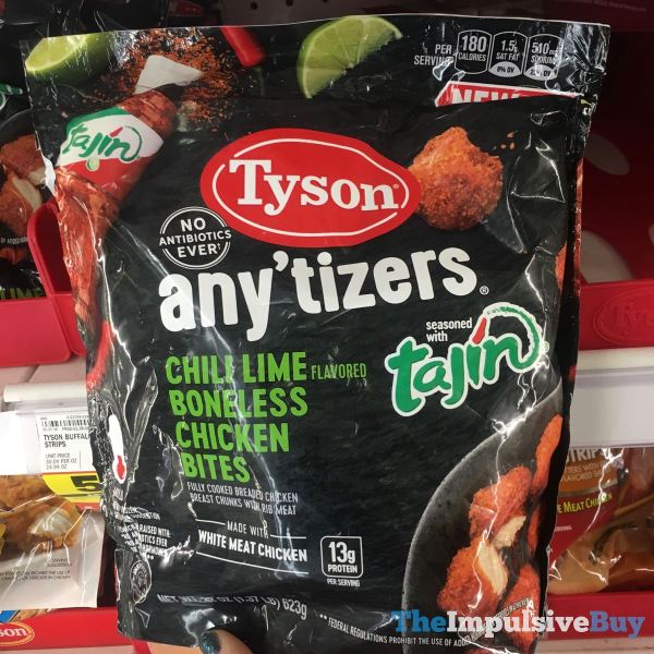 Tyson Any tizers Seasoned with Tajin Chili Lime Boneless Chicken Bites