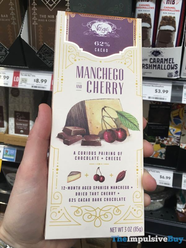 Vosges Manchego and Cherry Dark Chocolate Bar