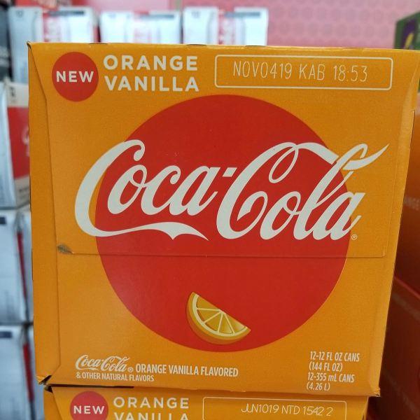 Orange Vanilla Coca Cola 12 Pack