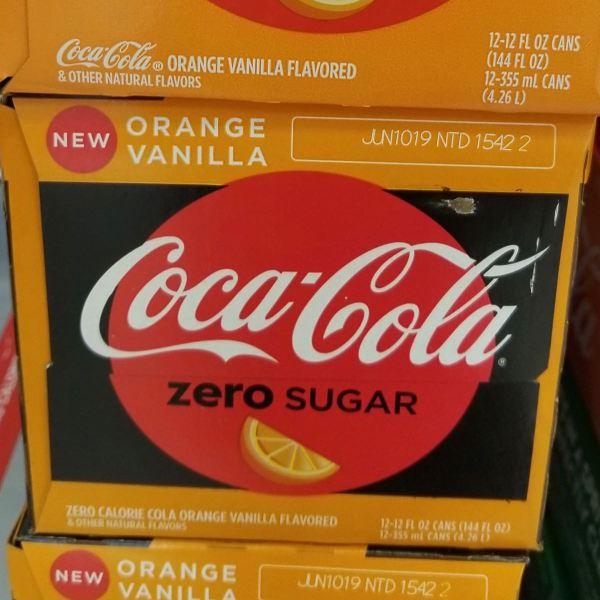 Orange Vanilla Coca Cola Zero Sugar 12 Pack