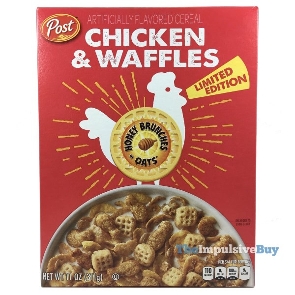 Post Honey Brunches of Oats Limited Edition Chicken  Waffles Cereal