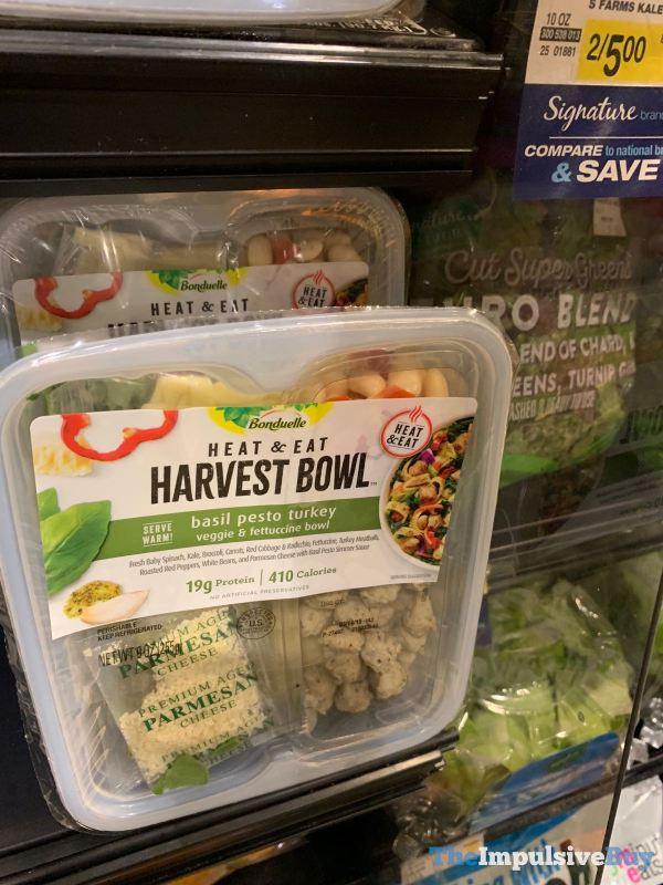 Bonduelle Harvest Bowl Basil Pesto Turkey Veggie  Fettuccine Bowl