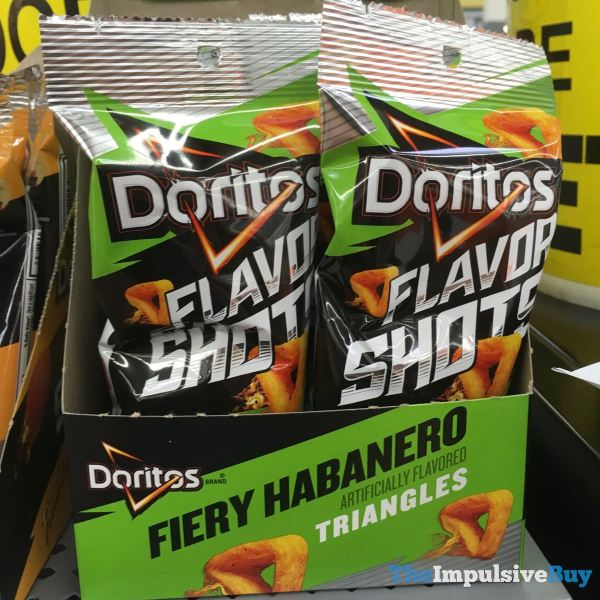Doritos Flavor Shots Fiery Habanero Triangles