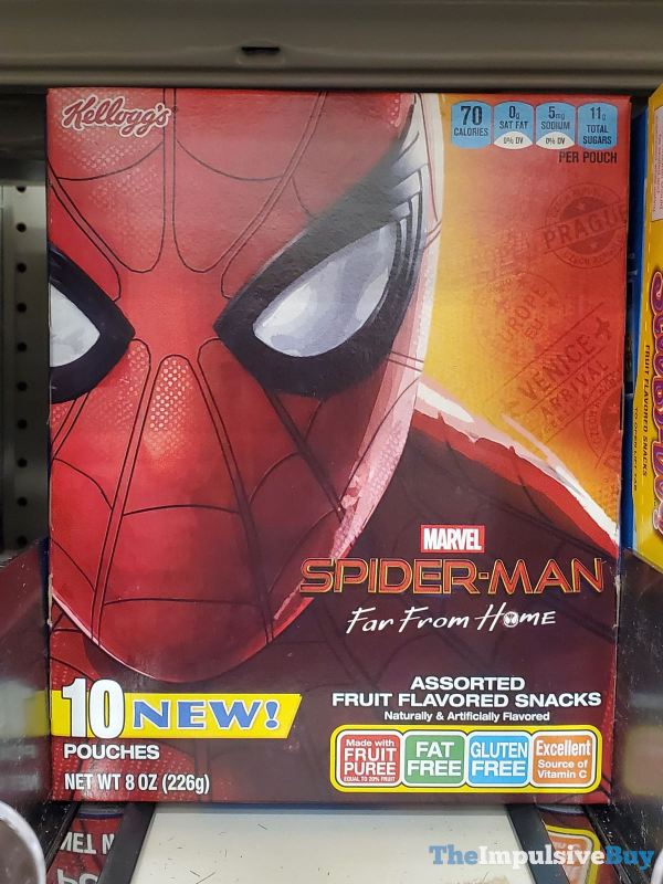 Kellogg s Marvel Spider Man Far From Home Assorted Fruit Flavored Snacks