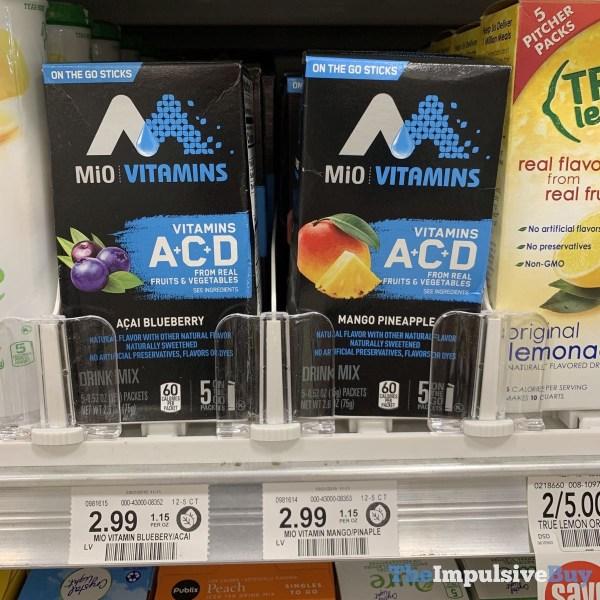 MiO Vitamins On the Go Sticks Acai Blueberry and Mango Pineapple