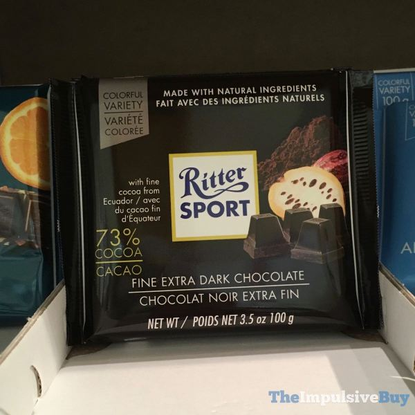 Ritter Sport Colorful Variety 73 Cocoa Fire Extra Dark Chocolate