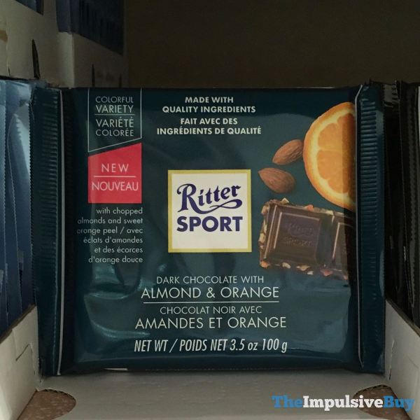 Ritter Sport Colorful Variety Dark Chocolate with Almond  Orange