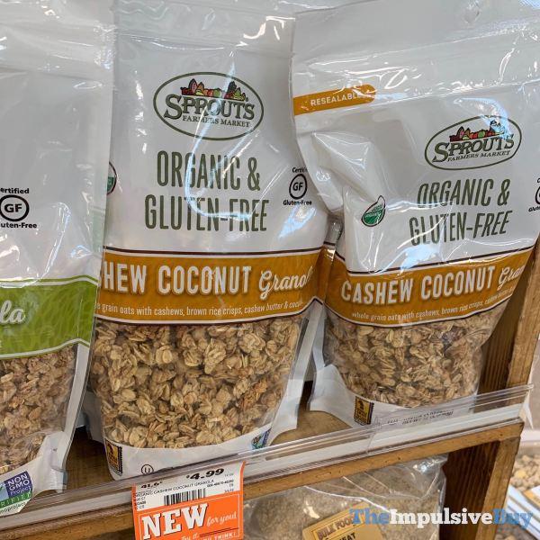 Sprouts Organic  Gluten Free Cashew Coconut Granola