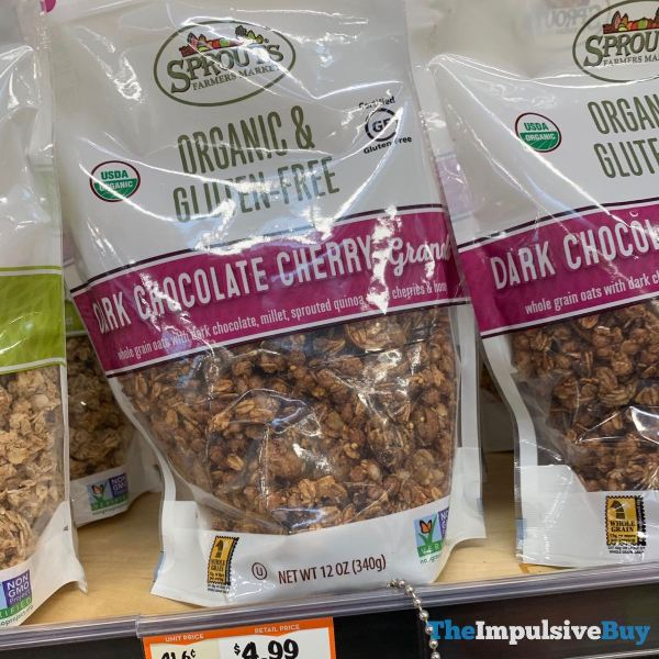 Sprouts Organic  Gluten Free Dark Chocolate Cherry Granola