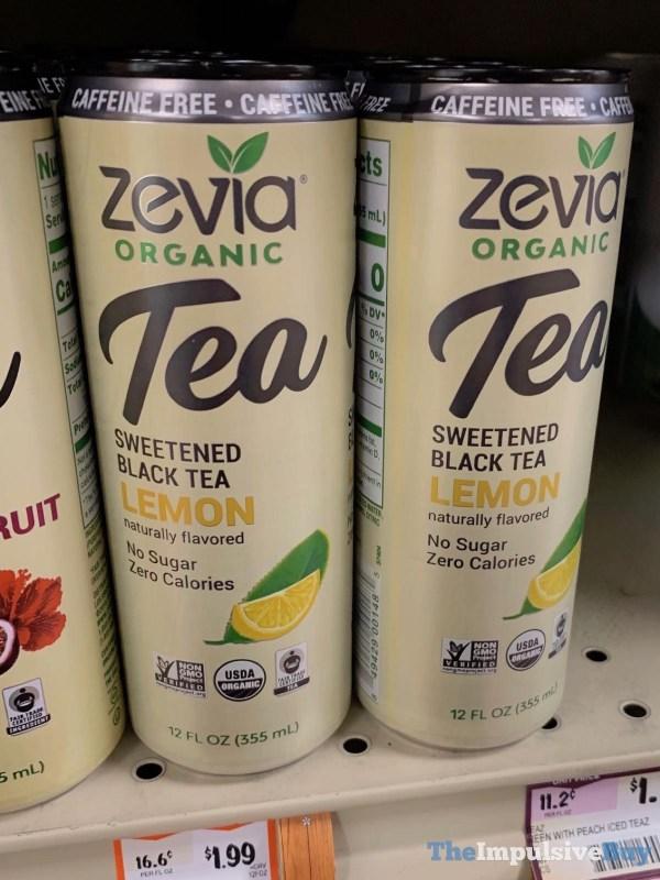 Zevia Organic Tea Caffeine Free Sweetened Black Tea Lemon