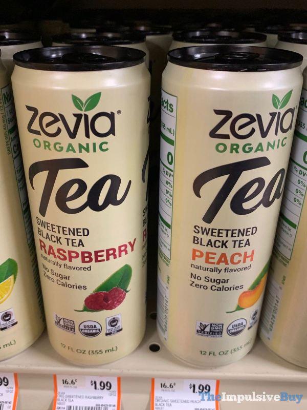 Zevia Organic Tea Sweetened Black Tea Raspberry and Peach