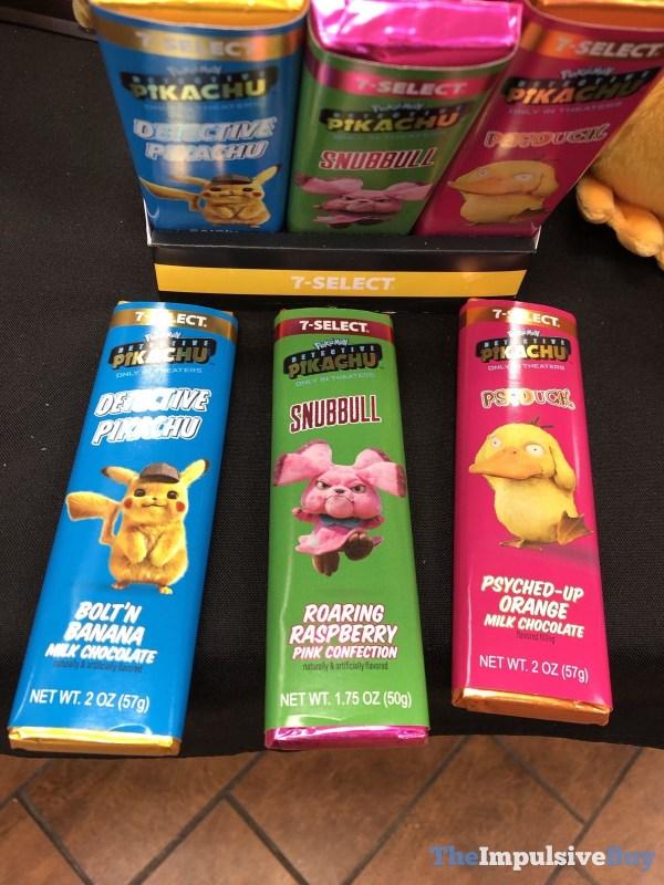7 Select Pokemon Detective Pikachu Candy Bars