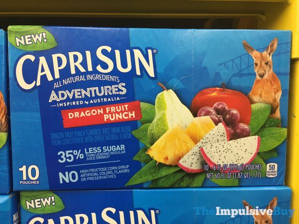Capri Sun Adventures Inspired by Australia Dragon Fruit Punch Pouches