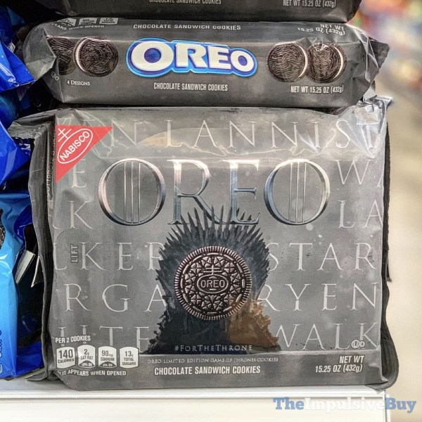 Spotted Game Of Thrones Oreo Cookies The Impulsive Buy