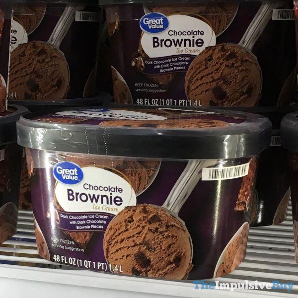 Great Value Chocolate Brownie Ice Cream