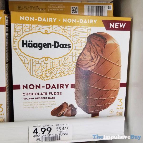 Haagen Dazs Non Dairy Chocolate Fudge Frozen Dessert Bars