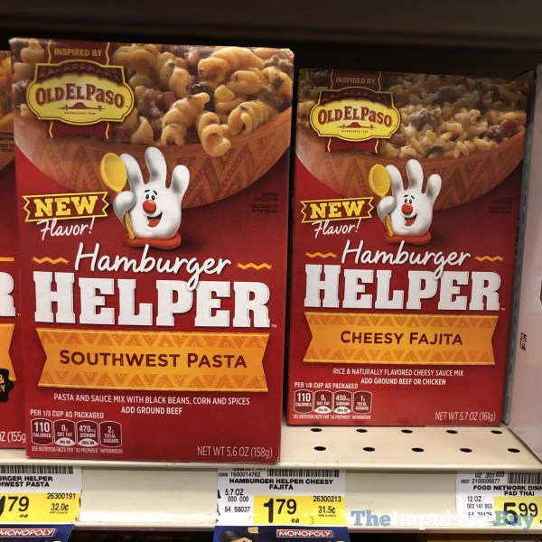 Hamburger Helper Inspired by Old El Paso Southwest Pasta and Cheesy Fajita