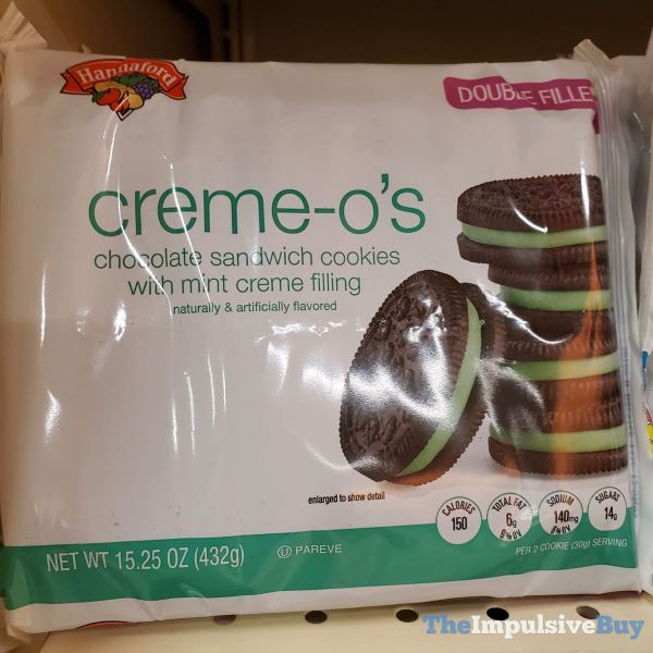 Hannaford Double Filled Mint Creme O s