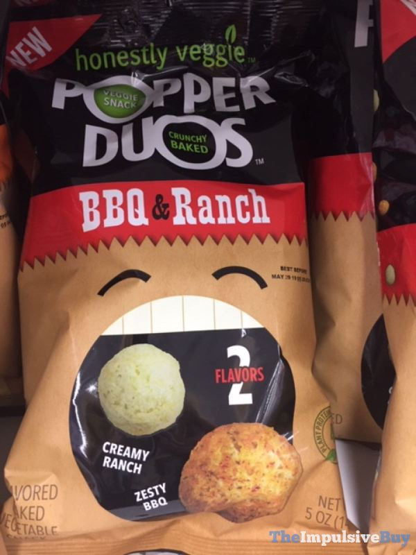 Honestly Veggie Popper Duos BBQ  Ranch