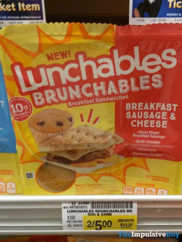 Lunchables Brunchables Breakfast Sausage  Cheese Breakfast Sandwiches
