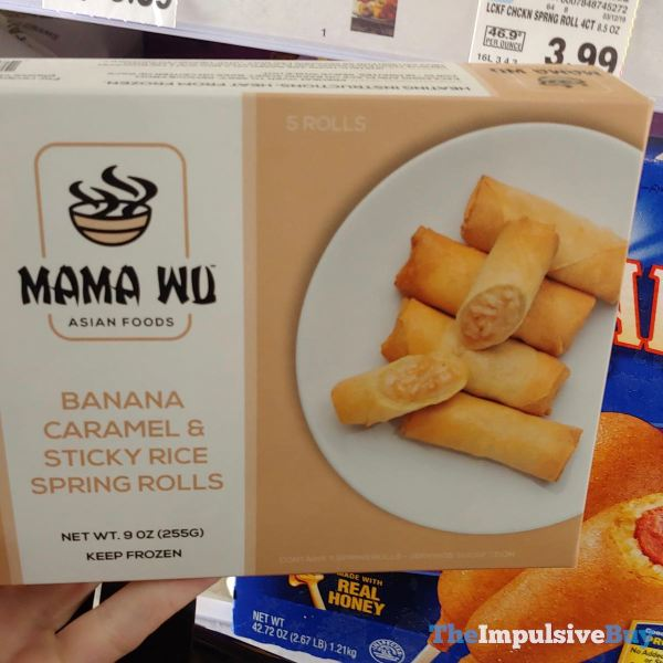 Mama Wu Banana Caramel  Sticky Rice Spring Rolls