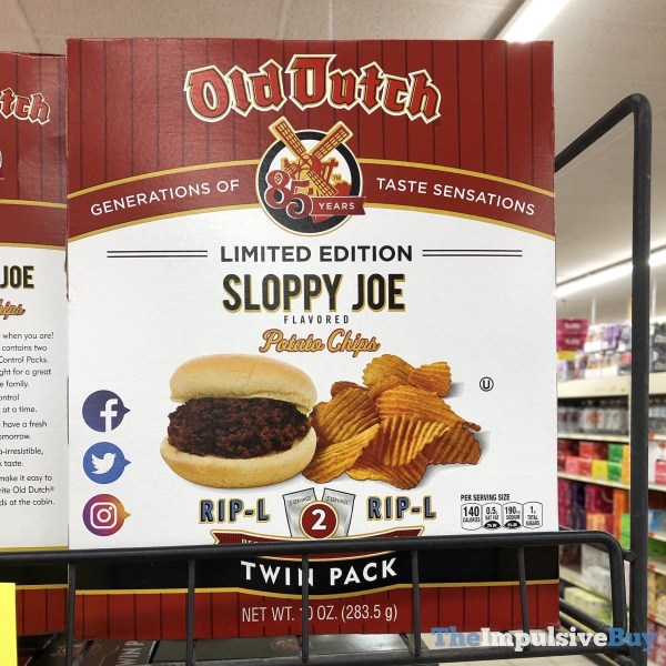 Old Dutch Limited Edition Sloppy Joe Potato Chips