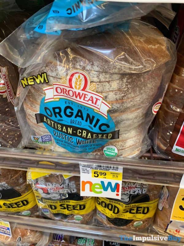 Oroweat Organic Artisan Crafted Rustic White Bread