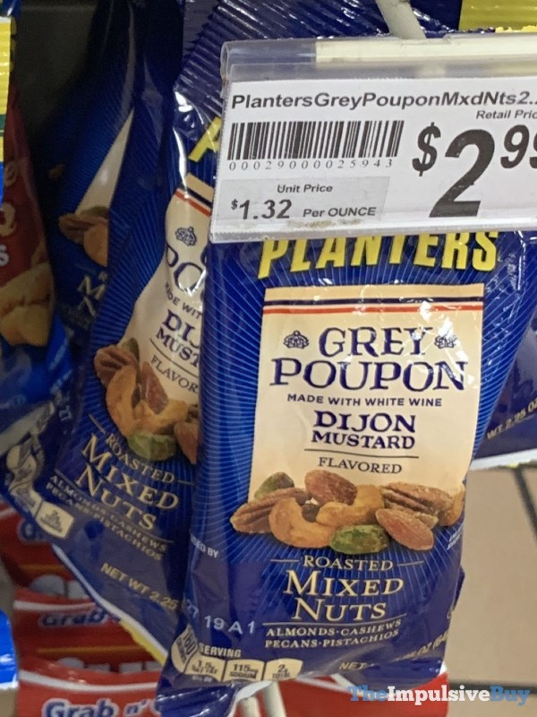 Planters Grey Poupon Dijon Mustard Roasted Mixed Nuts