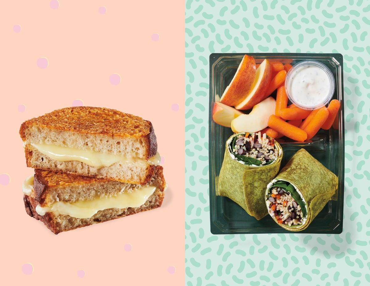 Starbucks Crispy Grilled Cheese And Baja Black Bean Veggie