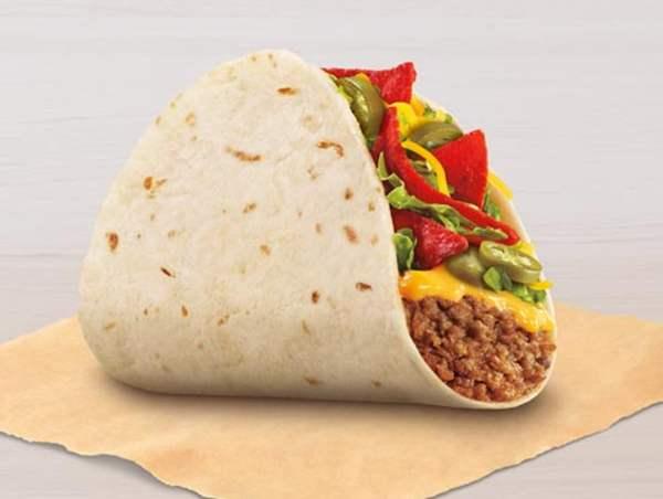 Taco Bell Spicy Loaded Nacho Taco
