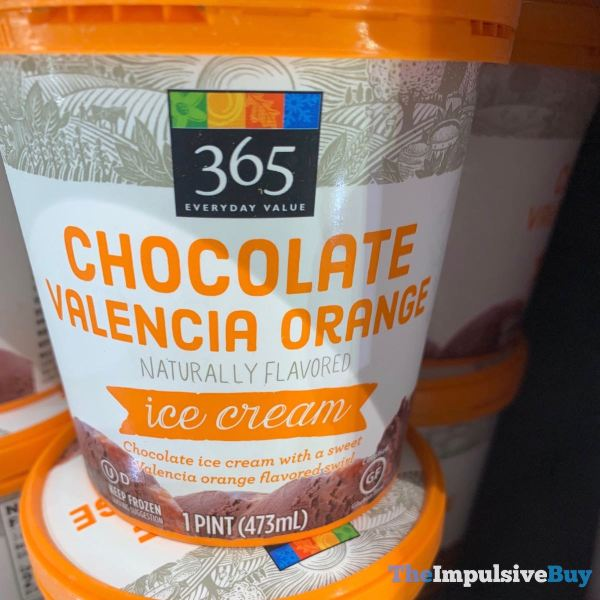 365 Everyday Value Chocolate Valencia Orange Ice Cream