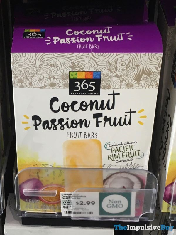 365 Everyday Value Coconut Passion Fruit Fruit Bars
