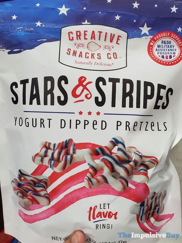 Creative Snacks Co Stars  Stripes Yogurt Dipped Pretzels