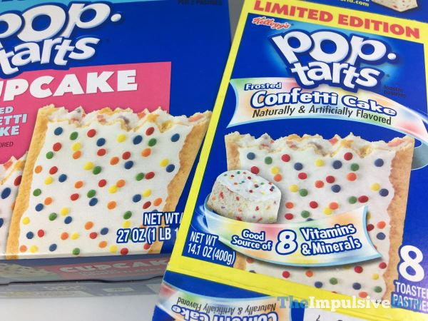 Frosted Confetti Cupcake Pop Tarts Box