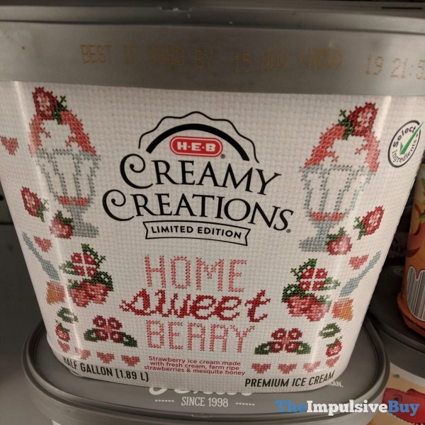 H E B Creamy Creations Limited Edition Home Sweet Berry Ice Cream